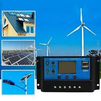 10/20/30A USB Solar Panel Battery Regulator Charge Intelligent Controller 12/24V