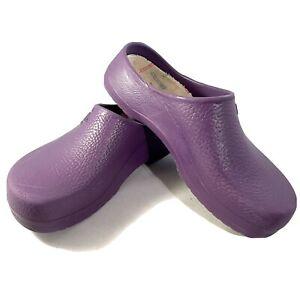 Birkenstock Womens Nursing Clogs Purple Rubber Size 9 Clogs Mules