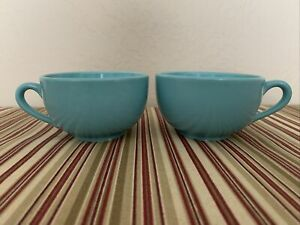 Vintage 1960`s?? McCoy Turquoise Coffee Cups Set od 2
