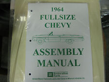 1964 64 FULLSIZE CHEVY IMPALA, BELAIR, BISCAYNE (ALL MODELS) ASSEMBLY MANUAL