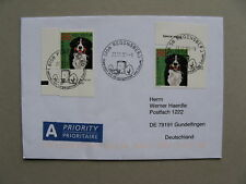 SWITZERLAND, cover to Germany 2008, stamp dog Berner Senne