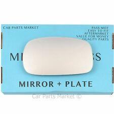 Left passenger side Flat Wing mirror glass for Nissan Micra K11 1992-03 + plate