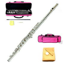 New SKY Band Approved Nickel Plated Flute with PINK Lightweight Case