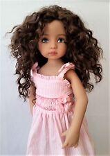 Monique Ellowyne-Rose Wig 7 1/4 for Effner Little Darlings Kish Brown Black