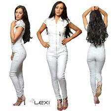 Denim Petite Patternless Jumpsuits & Playsuits for Women
