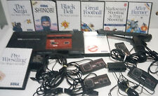 Vintage SEGA MASTER SYSTEM game console, controllers, accessories, games!