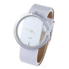 Reloj de pulsera Mujer señoras Relojes análogo de Moda Correa de Cuero Negro Blanco Rojo