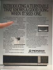 1982 Pioneer PL-88F Turntable print ad  Great to frame!