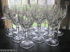 SET/10 GORHAM LADY ANNE CRYSTAL~10 WATER GOBLETS~GLASSES~STEMWARE~EUC