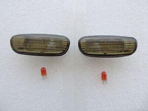 93-00 SUBARU IMPREZA GC8 GF8 Black Side Turn Signal Indicator Marker Lights SGC1