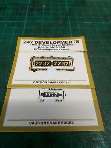 """0"" Gauge 247 Developments cab side 7727 Numbers"
