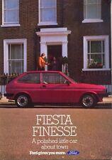 Ford Fiesta Festival Mk 1 mercado del Reino Unido Folleto De Ventas Original c.1980