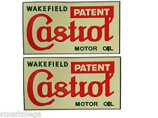 CASTROL WAKEFIELD moto huile vintage autocollant - Lot de 6 PVC autocollant