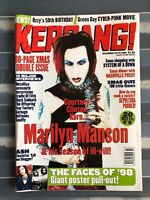 Marilyn MANSON Kerrang cover Ozzy Green Day + giant poster pull out Placebo