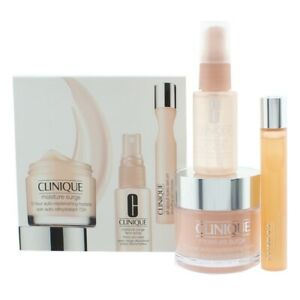 Clinique Moisture Surge Gift Set 75ml Moisturising Cream Eye Serum Face Spray