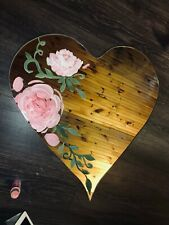 29 inch Hand painted heart shapped mirror