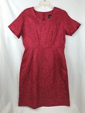 Womens Red Brocade Mendel Creation Midcentury Party Dress Large L Holiday