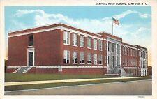 C52/ Sanford North Carolina NC Postcard c1920 High School Building
