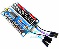 8-Bit LED 8-Bit Digital Tube 8KeyS TM1638 Display module for AVR Arduino ARM NEW