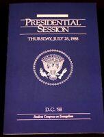 President Ronald Reagan 1988 Vintage Program Presidential Session Washington DC