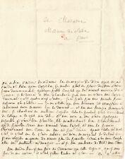 Marquis de SADE /  Lettre autographe à son épouse, Renée-Pélagie de Montreuil.