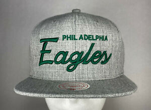 Mitchell and Ness NFL Philadelphia Eagles Team Name Snapback Hat, No Team Logo