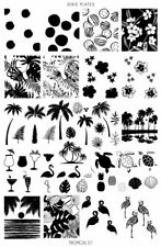 Dixie Plate Stamping Nail Art Accessories Tropical 01 plate