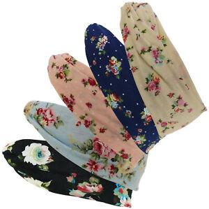 Damen Haarband oder Stirnband in 5 Farben mit Blumen  rockabilly Turban