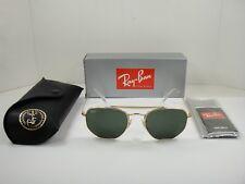 RAY-BAN MARSHAL RB3648 Óculos De Sol 001 Armação Dourada Lente  Clássico Verde 54MM e301946393