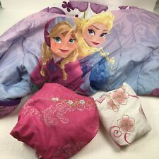 Disney Frozen Elsa & Anna Princess Twin Reversible Comforter and Sheet set
