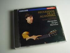 Ramirez-Recuerdos de la Alhambra, 5 Centuries of Spanish Guitar Classics CD NEUF