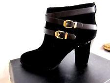 New $129 INC International Concepts Jaydie Suede  Booties Black size 10 M