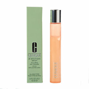 Clinique Eye Serum All About Eyes De-Puffing Eye Massage Roll-On 15ml Brand New