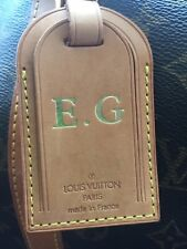 Louis Vuitton Keepall Genuine Tag Monogramed  E G Initials. Tag Only