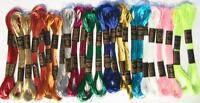24 Metallic SKEINS Embroidery FLOSS Thread Cross Stitch