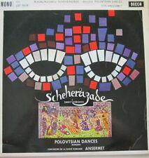 ORCHESTRE DE LA SUISSE ROMANDE - ERNEST ANSERMET - SCHEHERAZADE - LP - MONO