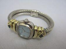 David Yurman T-48853 .925 Silver & 585 14kt M.O.P. Mother of Pearl Bangle Watch