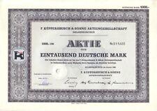 F.Küppersbusch & Söhne AG  1000DM Gelsenkirchen 1960