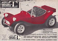 1969 BERRY MINI-T DUNE BUGGY  ~  GREAT ORIGINAL PRINT AD