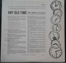 "ANDY WARHOL ART WORK ON ARTIE SHAW ALBUM ""ANY OLD TIME"" RCA LPM-1570 US PRESS"