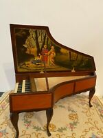 Dollhouse miniature vintage 18th c. harpsichord signed Ralph E. Partelow, Jr.