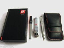 Zwilling J.A. Henckels Manicure 3pc Set Nail clipper, File, Tweezer Leather Case