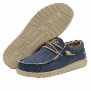 Hey Dude Shoes   Wally Blue UK 7/8/9/10/11/12   100% GENUINE   Free Delivery
