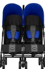 obaby blue twin buggy
