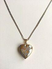 """18K GOLD FILLED HEART LOCKET NECKLACE-18""""/18K GOLD FILLED CADENA DE CORAZON 18"""""""
