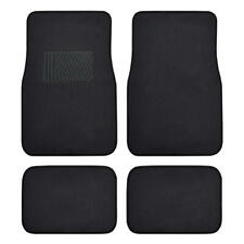 Car Floor Mats for Auto 4pc Carpet Semi Custom Fit Heavy Duty Heel Pad Black