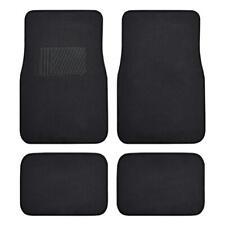 Car Floor Mats for Auto 4pc Carpet Semi Custom Fit Heavy Duty Heel Pad Black