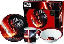 Star Wars Kylo Ren Frühstücksset mit Tasse, Schüssel und Teller Geschirr