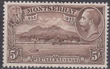 Montserrat 1932 Mint Mounted 5/- Chocolate SG93 Cat £110