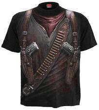 Spiral Direct HOLSTER WRAP T Shirt/Skeleton/Skull/Biker/Gun/Cowboy/GothTop/Tee
